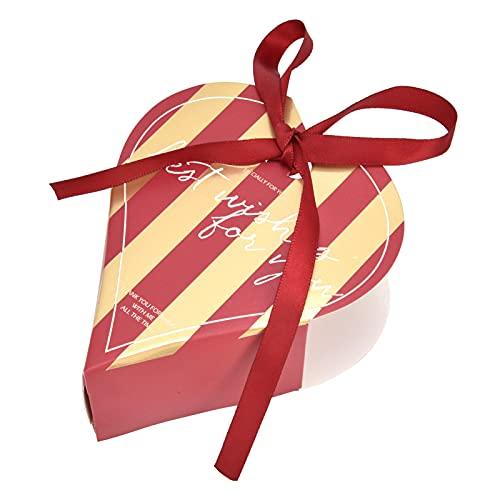 Cyrank 50 Piezas de Caja de Chocolate en Forma de corazón, Caja de Dulces, Caja de Regalo para Invitados, Cajas de Recuerdos de Fiesta para Regalos de Boda, Fiesta de cumpleaños, Regalos de Ducha