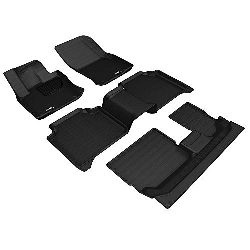 3D MAXpider Complete Set Custom Fit All-Weather Floor Mat for Select Ford Taurus Models Kagu Rubber Black