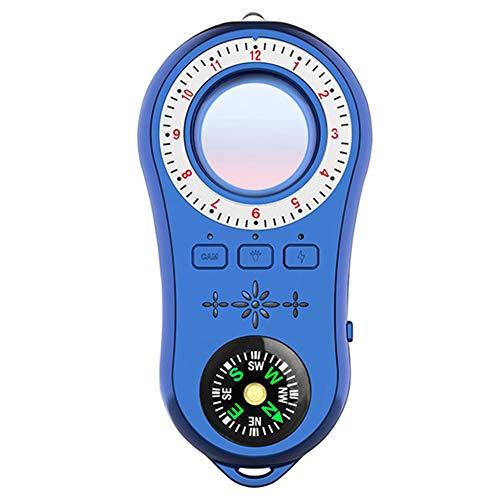 SODIAL S100 Anti Stealth Infrarot Scanner mit LED Licht/Kompass für Heim- / BüRo- / Auto Alarm Funktions Detektor Blau