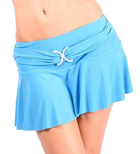 Arunta Sexy Falten Minirock mit eingearbeiteten Slip Hellblau