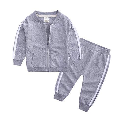 Yying Kind Junge Mädchen Kleidung Sets Herbst Frühling Langarm Seitenstreifen Set Für Baby Kleinkind Outfit Kinder Kleidung Anzug