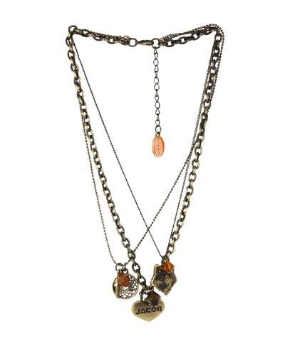 Twilight - New Moon - Collana Con Ciondolo Triple Chain Necklace Feather Circle