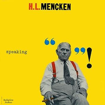 H.L. Mencken Speaking