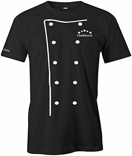 Jayess Chefkoch Kochjacke - Koch Jacke - Weiss - Herren T-Shirt in Schwarz by Gr. L