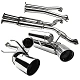 Spec-D Tuning MFCAT3-350Z03 Cat-Back Exhaust (Stainless Steel)