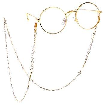 LUFF Anti-Skid Reading Glasses chain Glasses Strap retro metal chain sunglasses glasses holder  Gold
