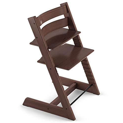 TRIPP TRAPP® sedia evolutiva per neonati, bambini, adulti │ Seggiolone in legno di faggio regolabile in altezza │ Colore: Walnut