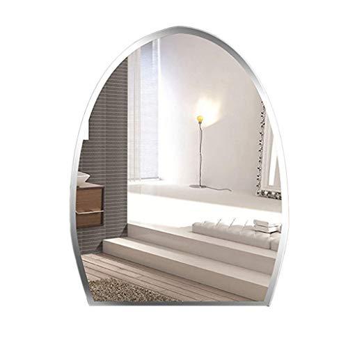 LXZSP Espejo Pared baño Media elipse, Moderno y Elegante con Bisel Liso, Adecuado para colgadores tocador, horizontales y Verticales, sin Marco, Adecuado como decoración del hogar