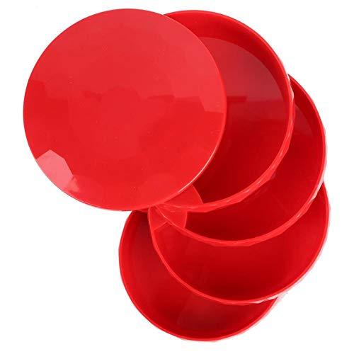 YOIM Caja de Almacenamiento de Joyas, joyero de Cuatro Niveles Que Ahorra Espacio para Guardar Anillos, Pendientes, Pulsera(Rojo)