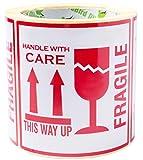 250 Etiqueta Fragil This Way Up Stickers Handle With Care de advertencia de objetos 10 x 10 cm