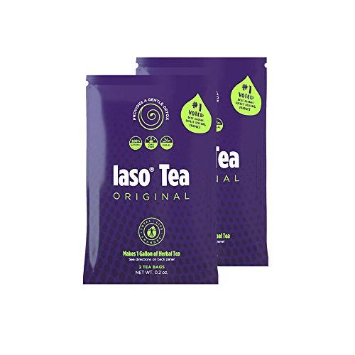 TLC Total Life Changes IASO Natural Herbal Detox Tea Bags - Double Pack (4 Tea Bags)