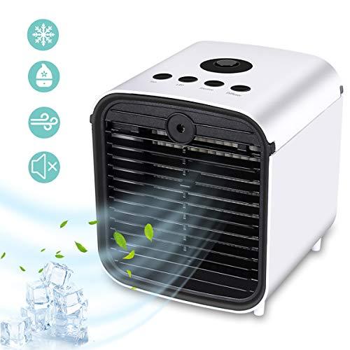 Tragbarer Mobile Klimaanlage usb Tischventilator Mini Luftreiniger mit buntem Nachtlicht für Büro Camping Hause Schlafzimmer