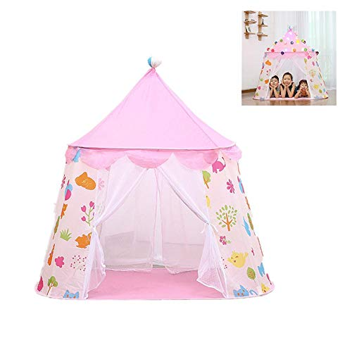 MIZUAN Baby Play House Boys Girls Toy Tent Teepee Castle Large Playhouse Kids Dream Indoor Outdoor Games Play Tents Contract Yurt For baby birthday gifts Pink2