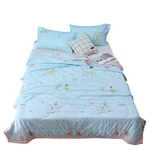 Down Duvet Summer Quilt Cool Light Allergy Soft Wash Cotton Summer Small Fresh Single Air Conditioner Is Cool in Summer,fruity,180X200