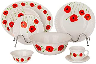 Arcopal 38 Pc Dinnerware Set | Combination Set with 1Pc Oval Plate+ 6PCs Dinner Plate+ 6PC Rice Plate+ 6pcs Dessert Plate+...