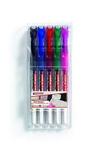 edding 2185 Gel-Roller (Standardfarben), 5-Stück, 0,7mm
