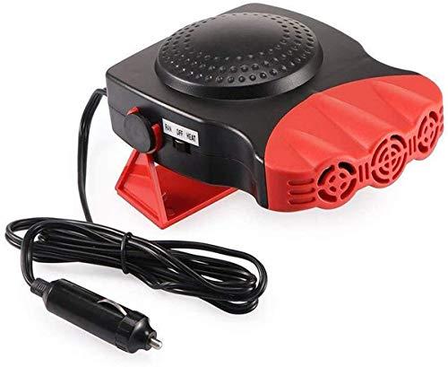 Wonninek Riscaldatore Portatile per Auto e Ventola di Raffreddamento Sbrinatore per Auto 12V 150W Riscaldatore per Auto Invernale Ventola antiappannante con Cavo da 1,5 m (Rosso)
