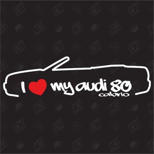 speedwerk-motorwear I Love My 80 Cabrio - Sticker kompatibel mit Audi - Baujahr 1991-2000
