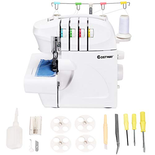 Costway Serger, Overlock Sewing Machine for professional finish,...