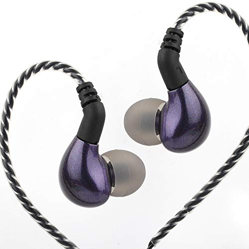 Linsoul BLON BL03 HiFi 10mm Carbon Diaphragm Dynamic Driver in-Ear Earphone IEM with 0.78mm 2pin Detachable Cable (with mic, Purple)