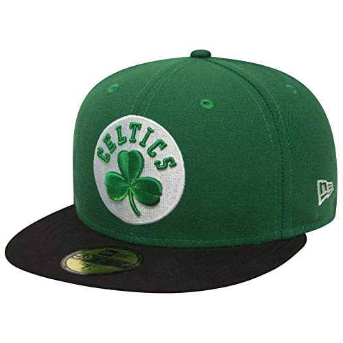 New Era Nba League Basic 59Fifty Snapback Boston Celtics Snapback Cap, Uomo, Green Black, 6 3/4 (53.9 cm)