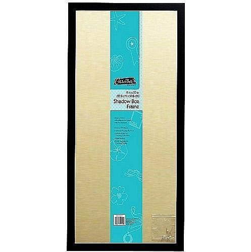 MCS 9x20 Inch Linen Lined Shadow Box, Black (53976)