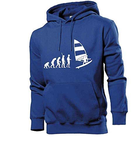 Generisch Shirt84.de Evolution Windsurfer - Sudadera con capucha para hombre azul real S