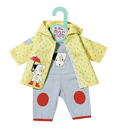 Zapf Creation 870594 Dolly Moda Latzhose mit Regenjacke Puppenkleidung 34-38 cm