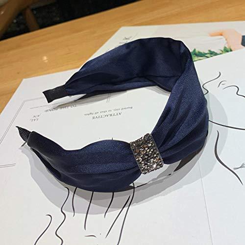 Tony plate Bandeau Fille Coréen Noeud Diamant Bandeaux De Cheveux Solide Satin Cristal Bandeaux pour Filles Femmes Maquillage Quotidien Large Bandeau