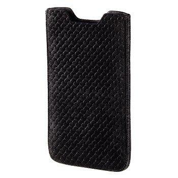 Hama criss-cross, L schwarz–Kissenbezüge für Mobiltelefone (L, Tasche, Universal, schwarz)