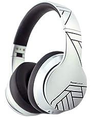 PowerLocus P6 trådlösa Bluetooth-hörlurar över-örat Glossy Silver Line
