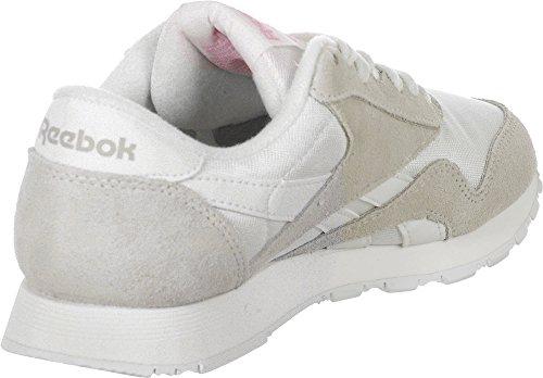 Reebok Classic Leather Nylon W Schuhe White/Light Grey