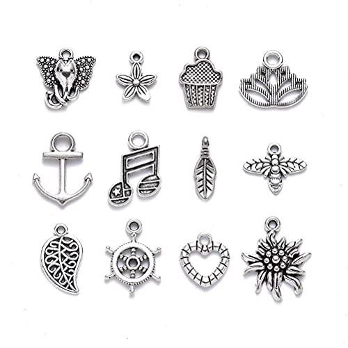 badewanne Colgantes de plata tibetana de aleación mezclada encantos colgantes DIY accesorios hechos a mano para manualidades pulsera collar joyería accesorios para hacer joyas pequeño colgante