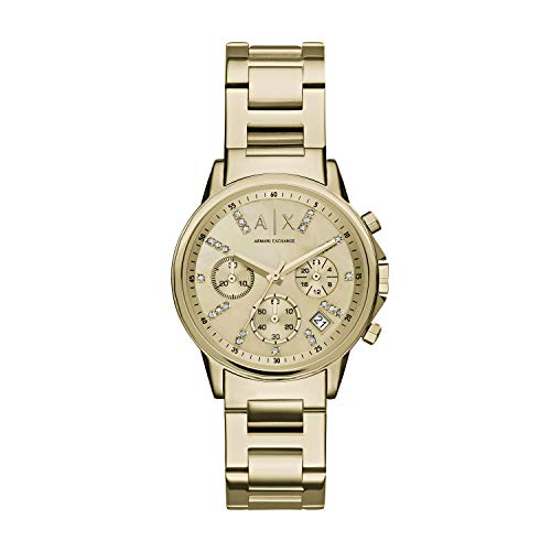 Armani Exchange Damen Chronograph Quarz Uhr mit Edelstahl Armband AX4327