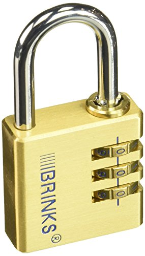 in budget affordable BRINKS 171-40051 Brass resettable padlock, 40 mm, 3 dials