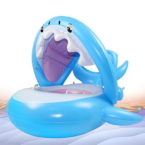 Flotador de Tiburón para Bebé con toldo para 6-36 Meses