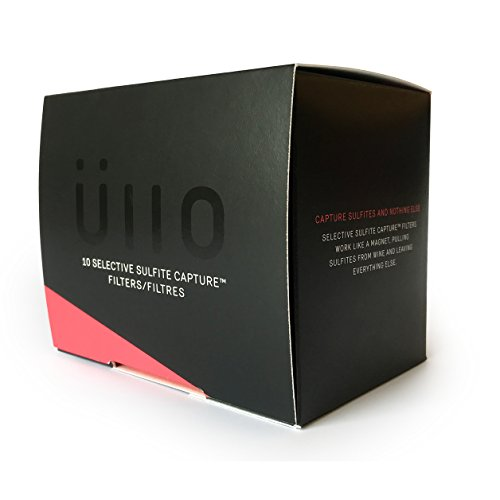 Ullo Full Bottle Replacement Filters (10 Pack) With Selective Sulfite Capture Technology To Make Any Wine Sulfite Preservative Free