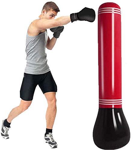 XHLLX Boxsack Torre Inflable Boxeo Boxeo Columna De La Columna Sandack para La Aptitud, Entrenamiento, Diversión, Boxeo Bolsa De Objetivo para Niños Adolescentes