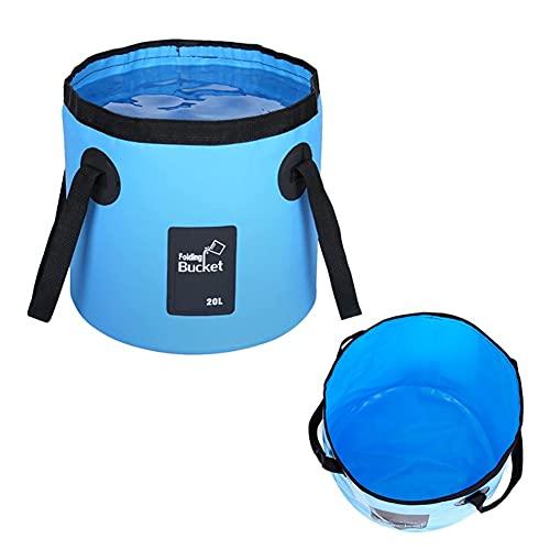 Cubo plegable plegable – Cubo plegable para limpieza del hogar, camping, viajes de pesca, portador de almacenamiento de agua portátil, recipiente de agua o fregadero plegable(20 L)