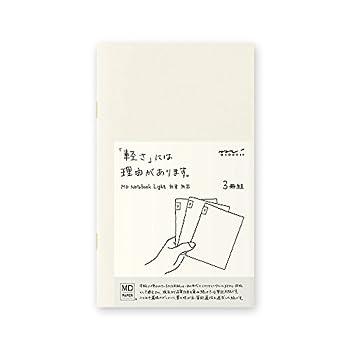 MIDORI MD Notebook Light B6 Slim  Blank  3 pcs/pack