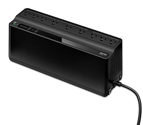 APC UPS, 850VA UPS Battery Backup & Surge Protector, BE850G2 Backup Battery, 2 USB Charger Ports, Back-UPS Series Uninterruptible Power Supply Black