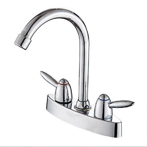 Mucert Tippen Sie Auf Heißes Und Kaltes Wasser Mischhahn, Bad Schwenkarm Waschbecken Wasserhahn, Alle Kupfer