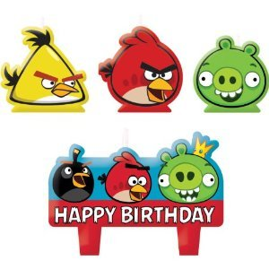 Molded Cake Candle Set | Angry Birds Collection | Birthday