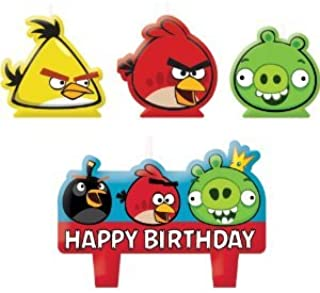 Molded Cake Candle Set   Angry Birds Collection   Birthday