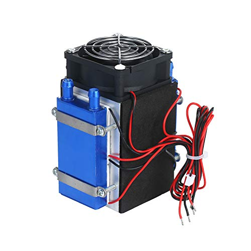 TEC Electron Semiconductor Kältekühler Tragbare Klimaanlage DIY Kühler Kühlmodul Kit Thermoelektrisches Peltier Kühlsystem Kit 4 Chips Thermoelektrischer Kühler