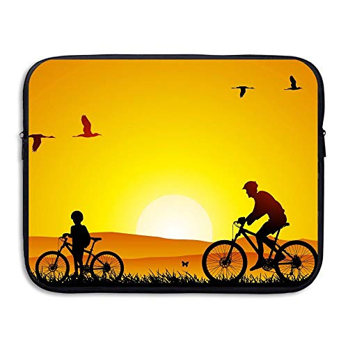 15 Inch Laptop Sleeve Water-Resistant Laptop Bags Bicycle Trip Father And Children Briefcase Sleeve Case Bags
