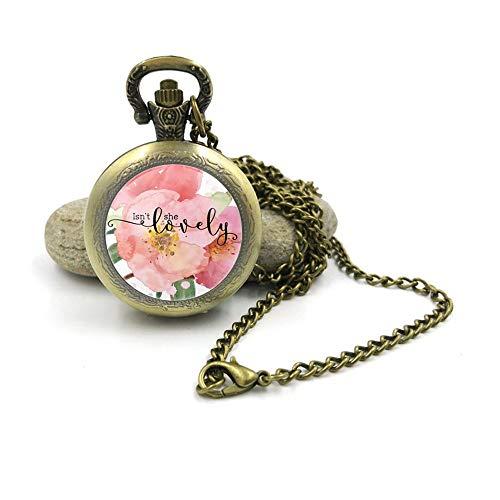 Sunshine Collar de reloj de bolsillo vintage, increíble amor increíble, idea de regalo