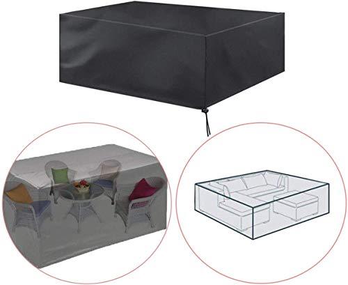 XBR - Fundas protectoras para muebles de jardín, impermeable, rectangular, 170 x 94 x 70 cm, para muebles de jardín, 270 x 180 x 89 cm.