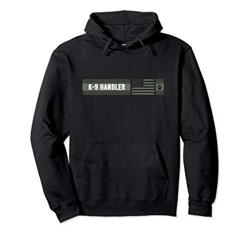 K-9 Handler K9 Unit Gift | Distressed | American Flag Pullover Hoodie
