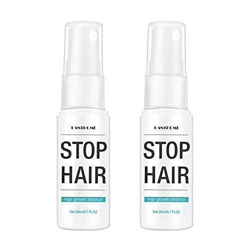 Stop Hair Growth Spray, ORCCAC depilación suave e hidratante suave para piernas brazo cuerpo unisex 20 ml (2PCS)